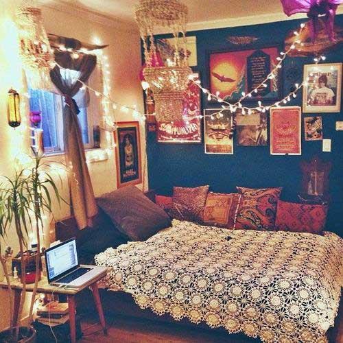 quarto indie parecido com quarto hipster