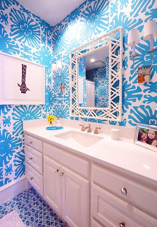 imagem de banheiro azul feminino para crianças