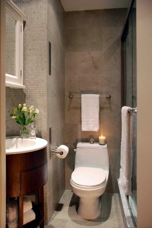 imagem de banheiro pequeno com decoracao simples