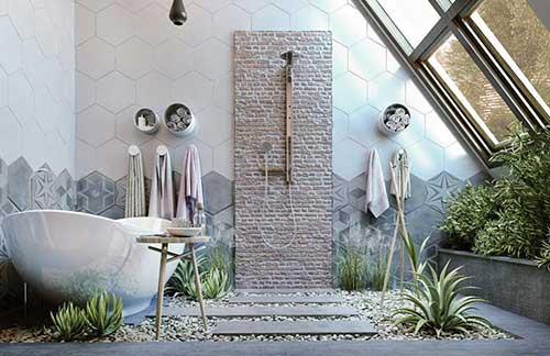 banheiro feminino feng shui