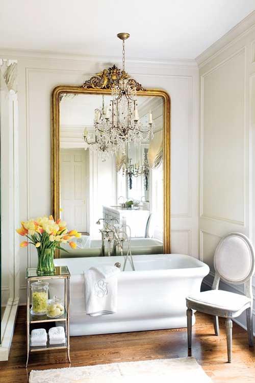 imagem de banheiro feminino vintage decorado