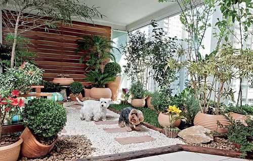 jardim de inverno para sala de estar de apartamento luxuoso