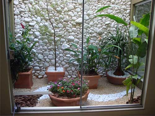 jardim de inverno simples com porta de vidro