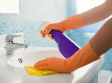 dicas para limpar a pia do banheiro
