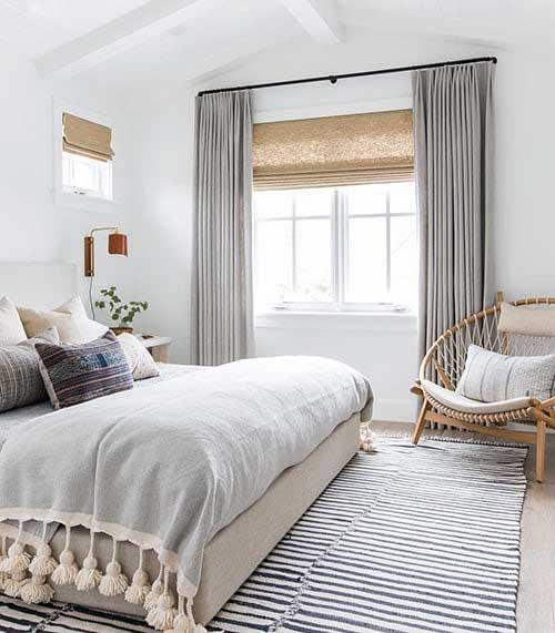imagem de cortina de seda cinza