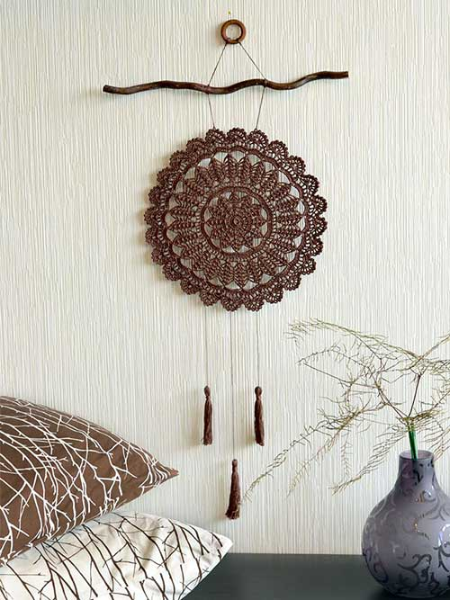foto do pinterest de filtro dos sonhos de crochet
