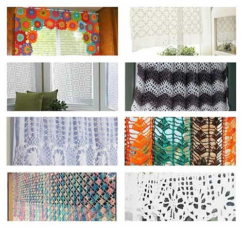 fotos de cortinas de croche coloridas