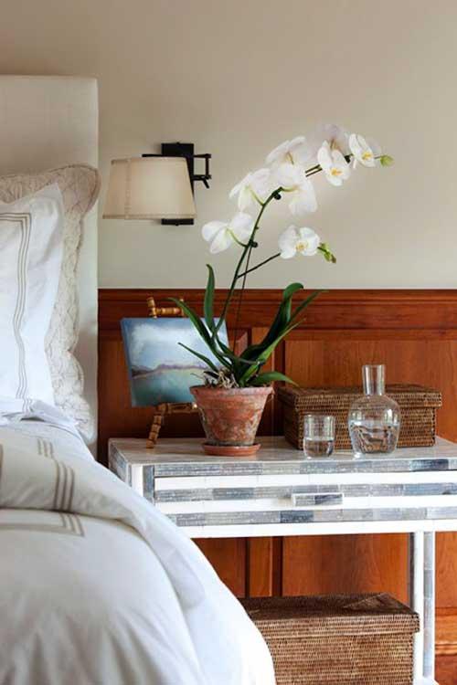 decoracao do quarto com orquidea