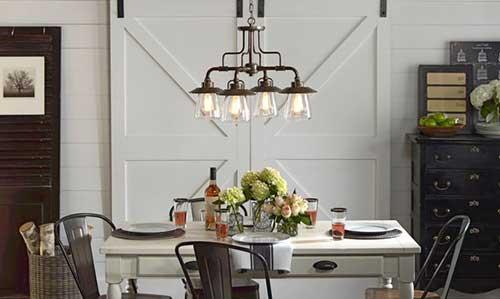 lustre para sala de jantar em estilo industrial