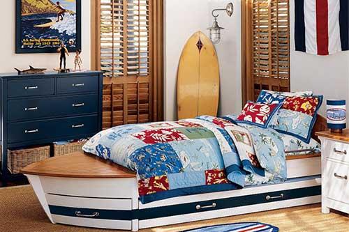 quarto infantil surfista e marinheiro
