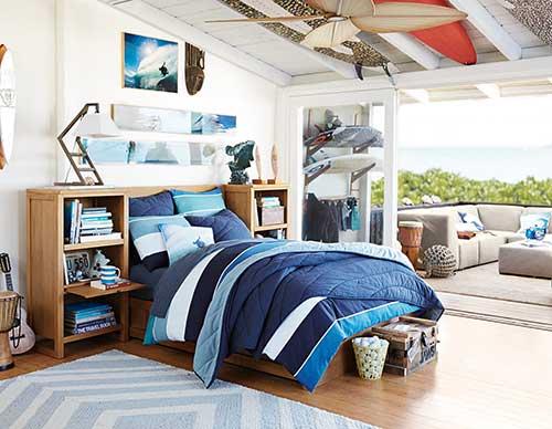foto de quarto para surfista profissional
