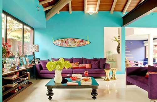 azul tiffany combina com roxo