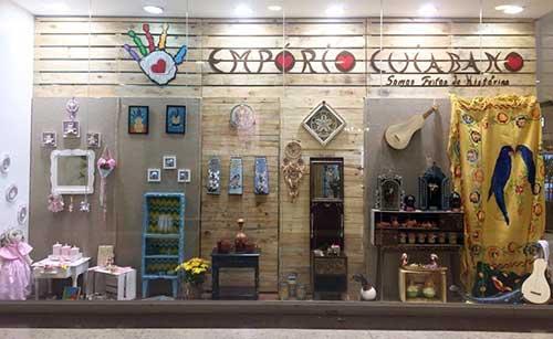 foto de loja rustica de artesanato