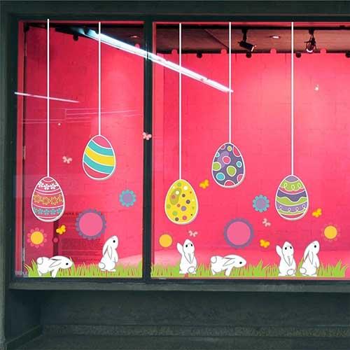 imagem de vitrine de pacoa decorada