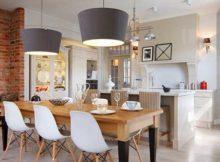 foto de sala de jantar junto da cozinha em conceito aberto