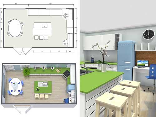 foto de sala de jantar junto da cozinha em desenho feito por arquiteto