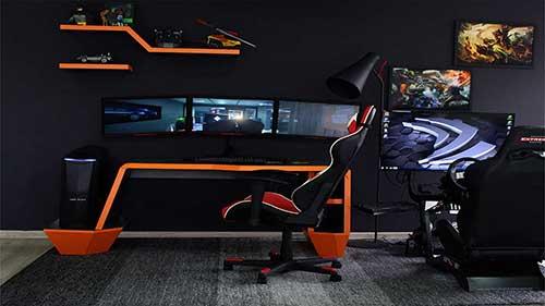 imagem de quarto gamer com quadros de dota 2