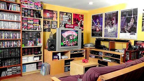 foto de quarto gamer vintage