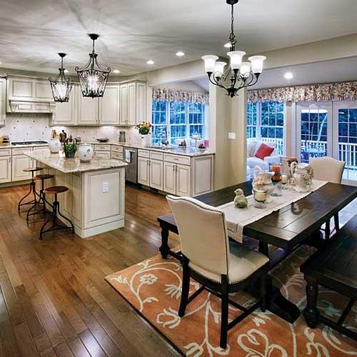 sala de jantar do pinterest com cozinha moderna