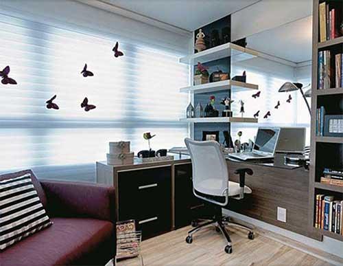 foto do pinterest de escritorio feminino decorado e planejado