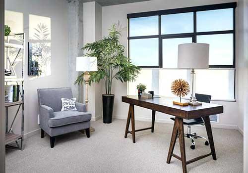 foto de escritorio clean no modelo feng shui