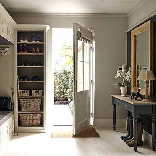 foto de hall grande e moderno de casa