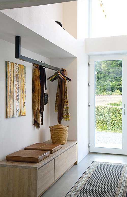 hall de entrada moderno para casa luxuosa