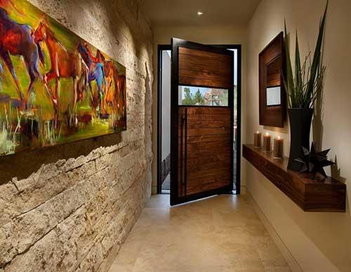foto de hall de entrada de casa luxuosa