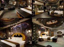 quarto para casais com decoracao do batman