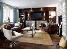sala de estar com moveis marrons de alto custo