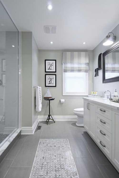 foto do pinterest de banheiro cinza e branco