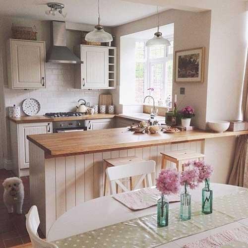 imagem do pinterest de cozinha rustica americana e pequena