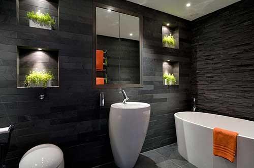 foto de banheiro grande e moderno bonito