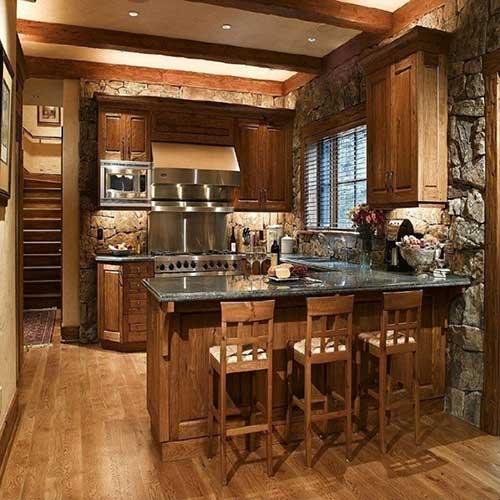 cozinha americana luxuosa mas pequena