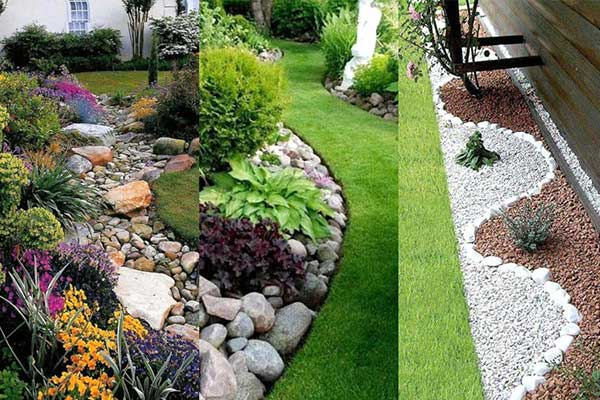 Jardinagem com Pedras 47 Dicas para Decorar + DIY Fácil! -> Decoração De Jardim Com Pedras Grandes