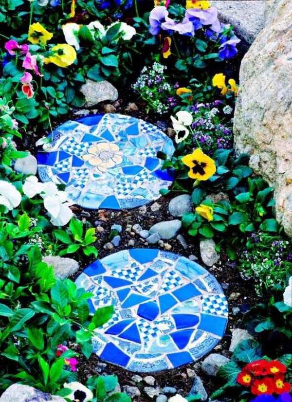 mosaico com pedras, uma arte para decorar seu jardim