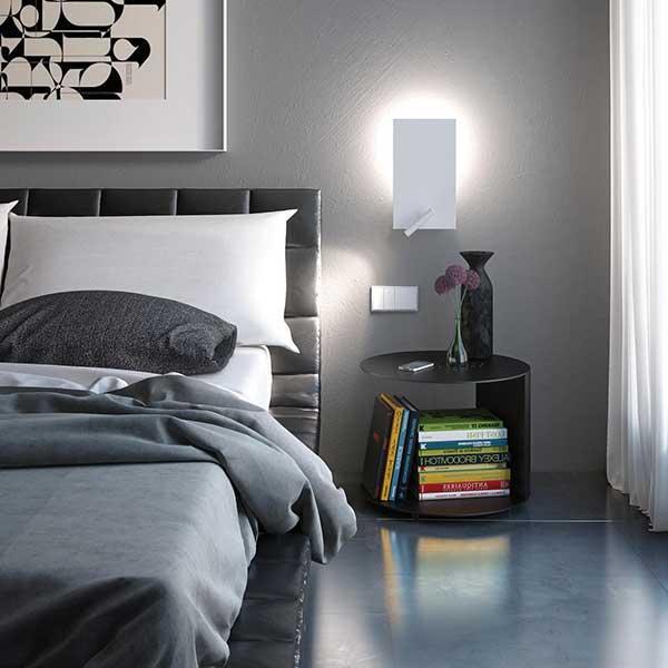 arandela com interruptor para quarto clean