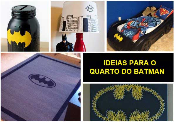 DIY e ideias para o quarto do Batman - cofrinho, tapete etc.