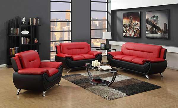 o preto com vermelho conforma um estilo bem moderno e combina com quem busca uma decoração mais atual