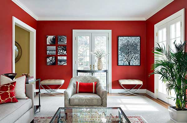 25 Red Living Rooms + Tricks to Match Colors!